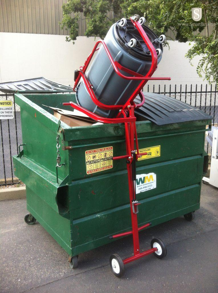 El 1000 Eagle Trash Can Lifter W Lift Handle Eagle