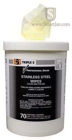 Sss 57009 Sss Hi Count Stainless Steel Cleaner Wipes