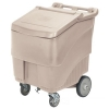 CON 9725BE - Continental Conserve Mobile Ice Bin, 125 lb Ice Caddie - Beige