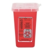 IMPACT Sharps Square Waste Receptacle - 1-Quart , Red